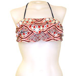 Batik Stripe 3-Tier Flounce Bandeau Top