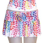 Rainbow Shower Tree Flared Skort