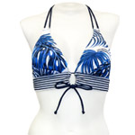 Blue Girl Keyhole Front Banded Chest