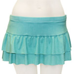 Linen Double Layer Flared Skort