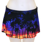 Purple Evening A-line Skort