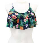 Pine and Flower Flounce Crop Top