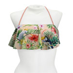 Tropical Bird Long Flounce Bandeau