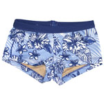 Hibis and Palm Kid's 1-inch Banded Boyshort