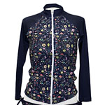 Little Blossoms Zipper Front Rashguard
