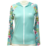 Floral Long Sleeve Hooded Rashguard