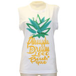 Pineapple Square Sleeve Tank Top