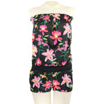 Tropical Orchid Strapless Romper