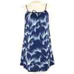 Floating Palm String Gathered Short Dress