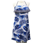 Blue Girl Flounce Front Short Dress
