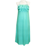Linen 3-Tier Ruffle Long Dress